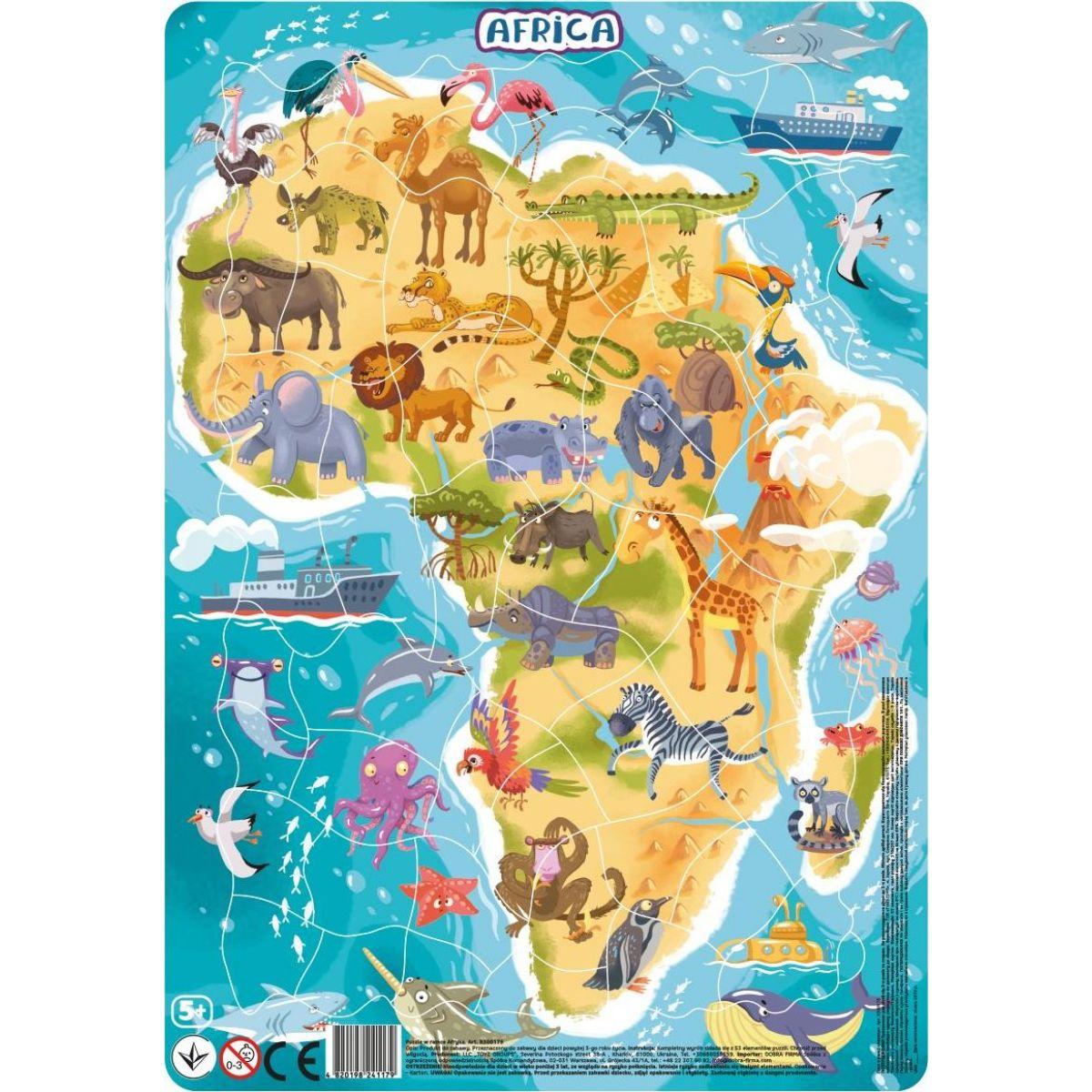 DoDo Puzzle Zvířata Afrika 53 dílků