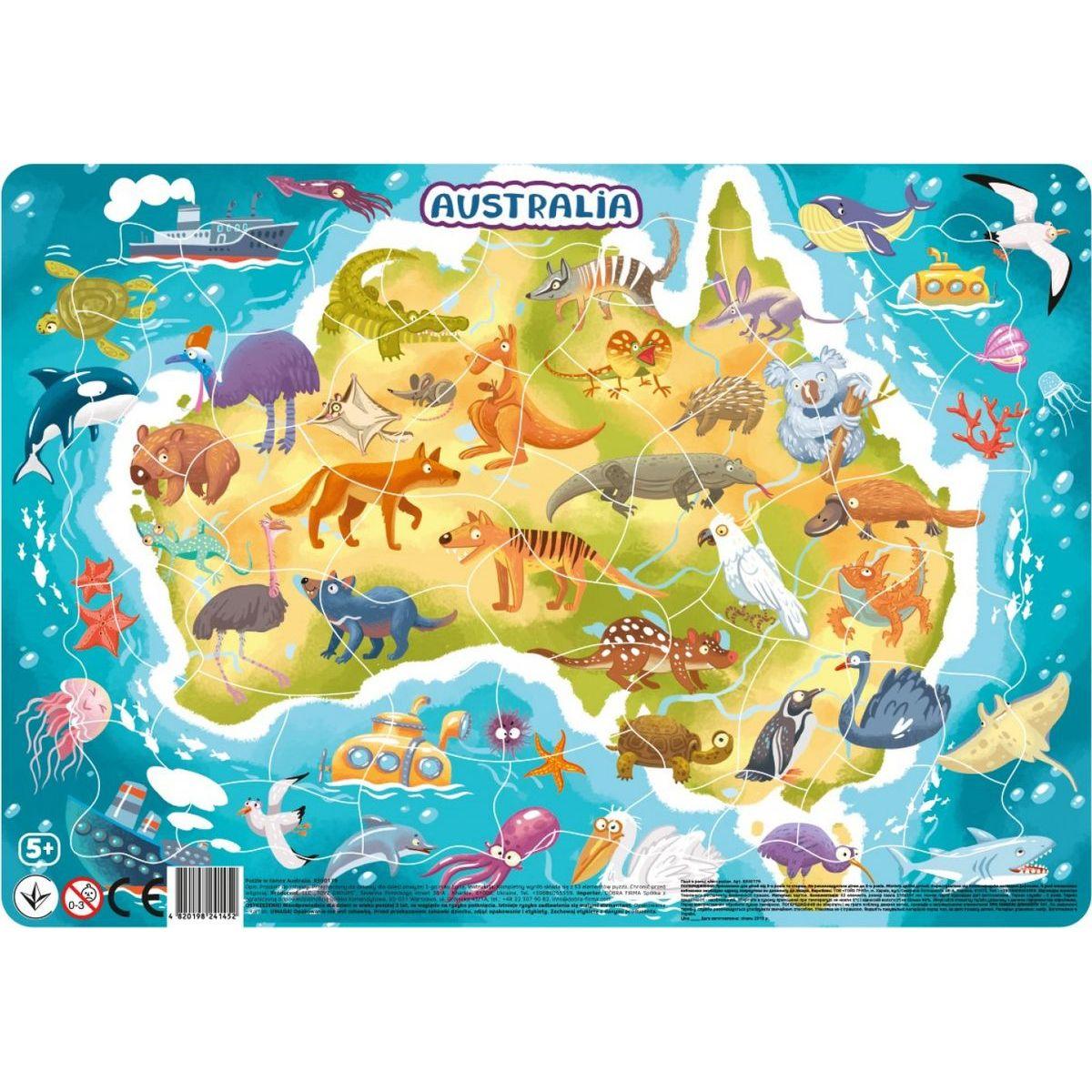 DoDo Puzzle Zvířata Austrálie 53 dílků