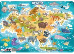DoDo Puzzle Zvířata Euroasie 53 dílků