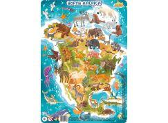 DoDo Puzzle Zvířata Severní Amerika 53 dílků