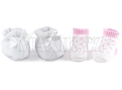 Dolls World Boty a ponožky - Bilé botičky