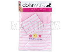 Dolls World Deka a polštář pro panenky