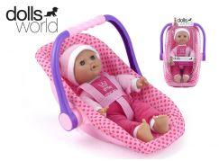 Dolls World Panenka Isabella 30 cm v dětské sedačce s rukojetí