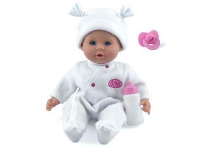 Dolls World Panenka Little Treasure 38cm bílý obleček