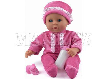 Dolls World Panenka Little Treasure 38cm růžový obleček