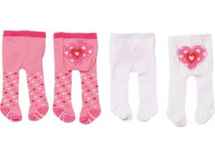 Zapf Creation Dolly Moda Punčocháče 2 ks - bílé a růžové