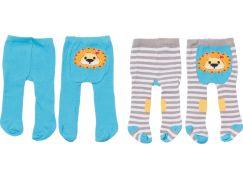 Zapf Creation Dolly Moda Punčocháče 2 ks - modré a šedé