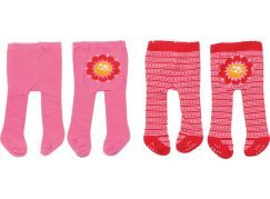 Zapf Creation Dolly Moda Punčocháče 2 ks - růžové a červené