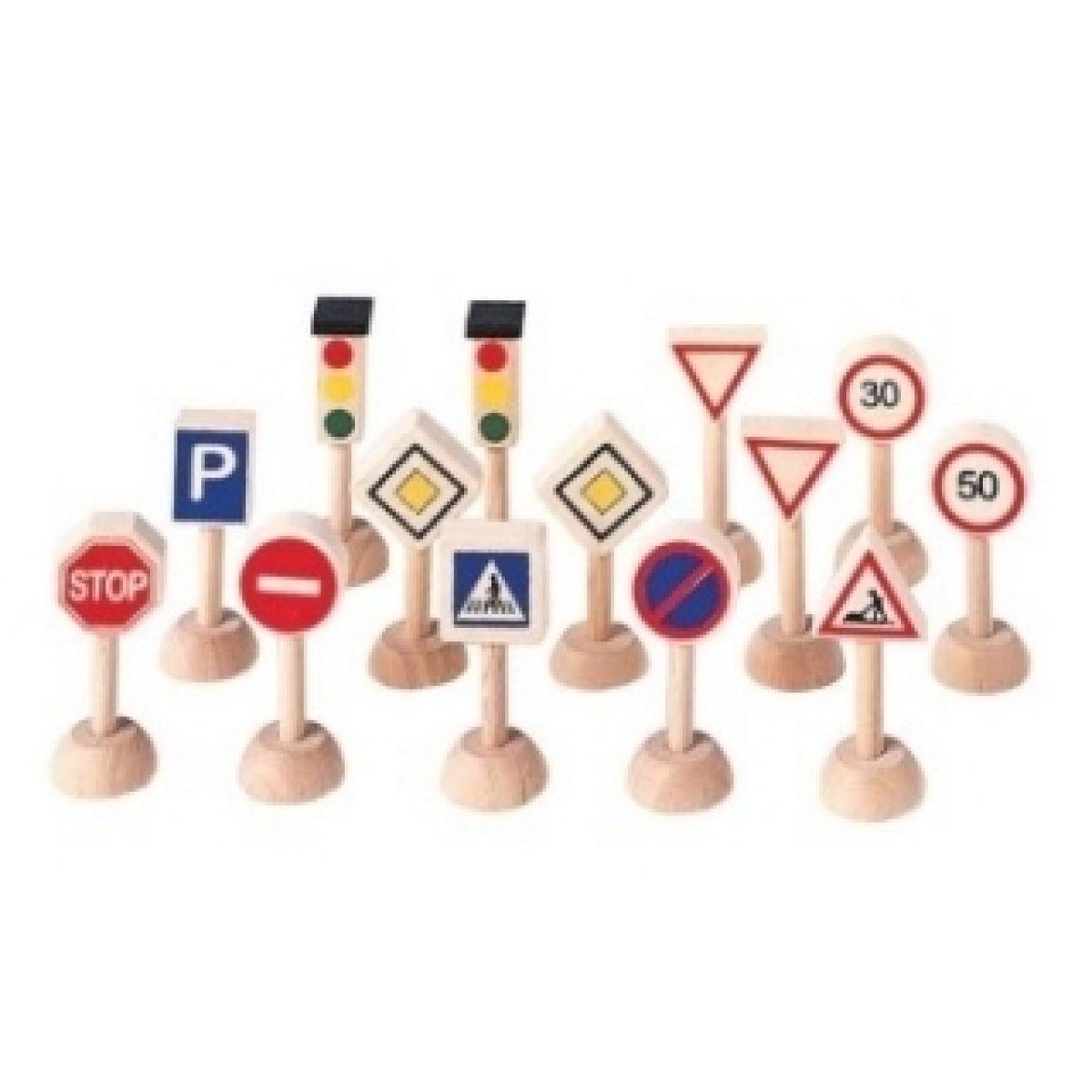 Dopravní značky a semafory Plan Toys