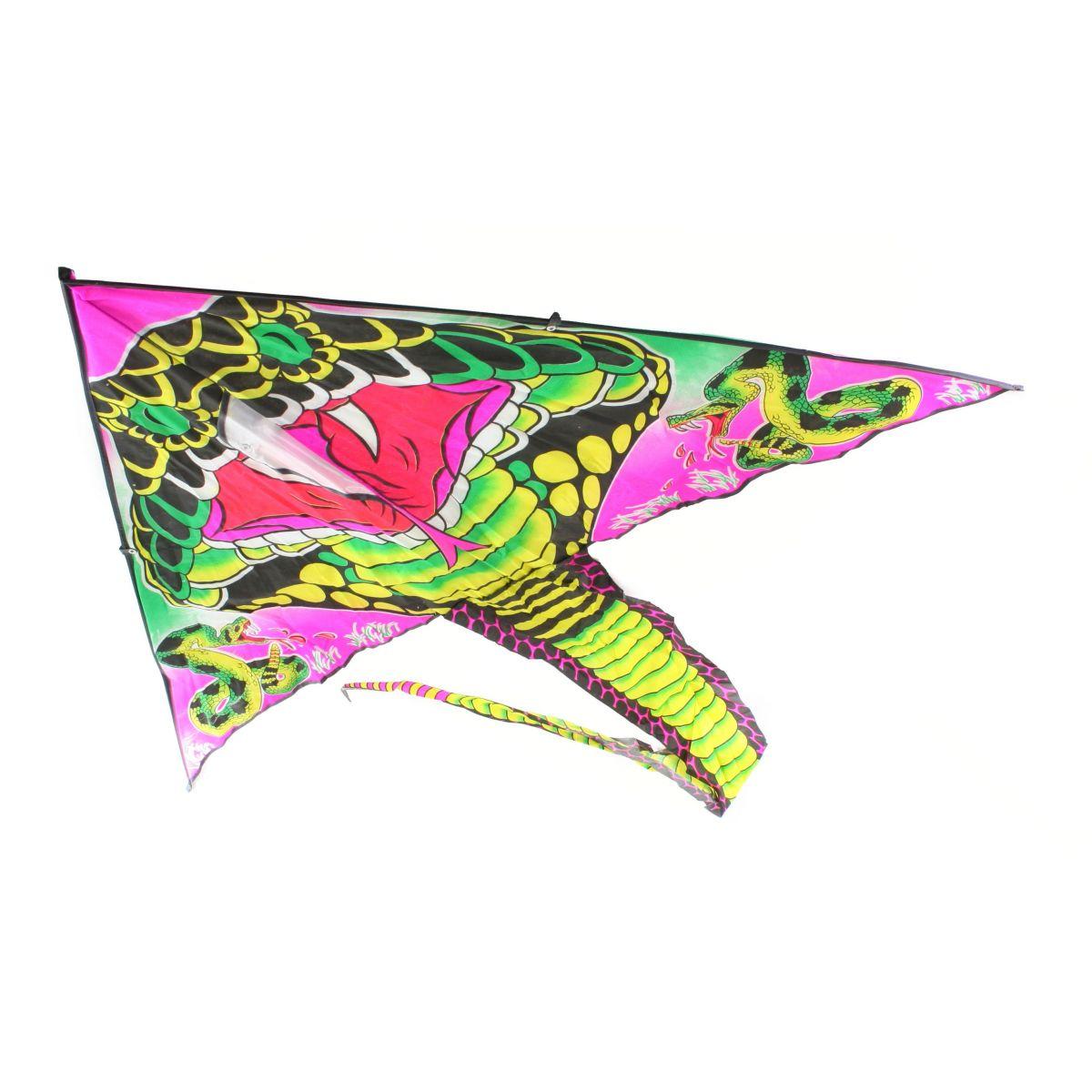 Drak létací nylonový s ocasem 120cm