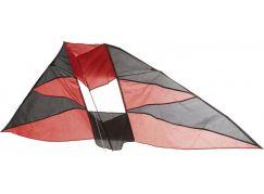 Drak létající nylon v pouzdře černo-červený