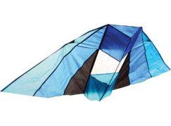 Drak létající nylon v pouzdře černo-modrý