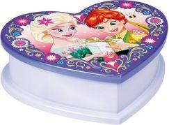 Dřevěná šperkovnice srdce Frozen