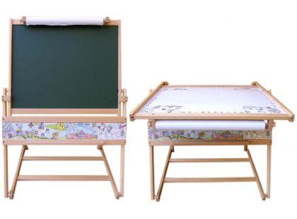 Dřevěné hračky Jaroš Dřevěná tabule a stolek 2v1