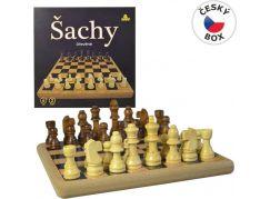 Dřevěné šachy 21x21cm