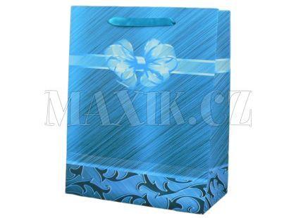 Dárková taška mašle malá - Modrá
