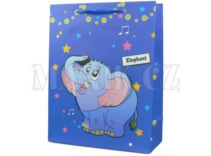 Dárková taška zvířátka lesk - Slon