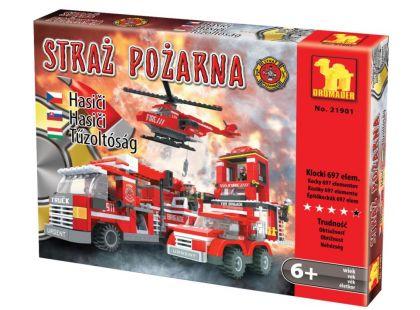 Dromader 21901 Hasiči Auto,Vrtulník,Stanice