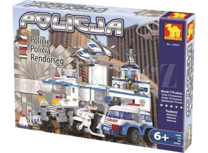 Dromader 23001 Policie Auto,Vrtulník,Stanice