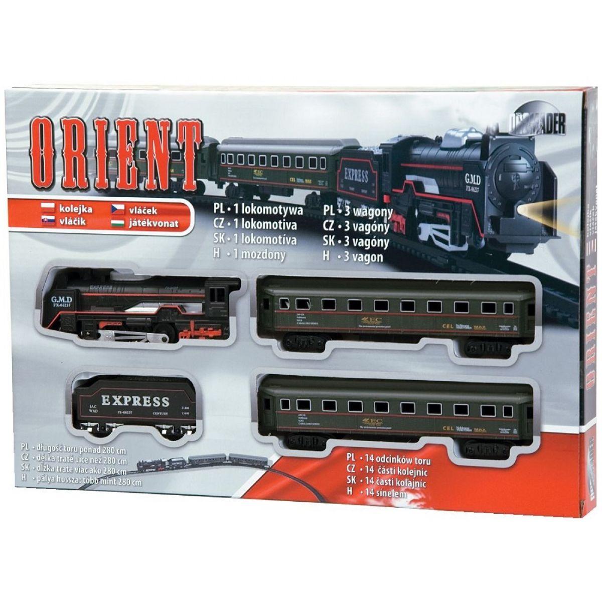 Dromader Orient Vláček se 3 vagónky a kolejemi