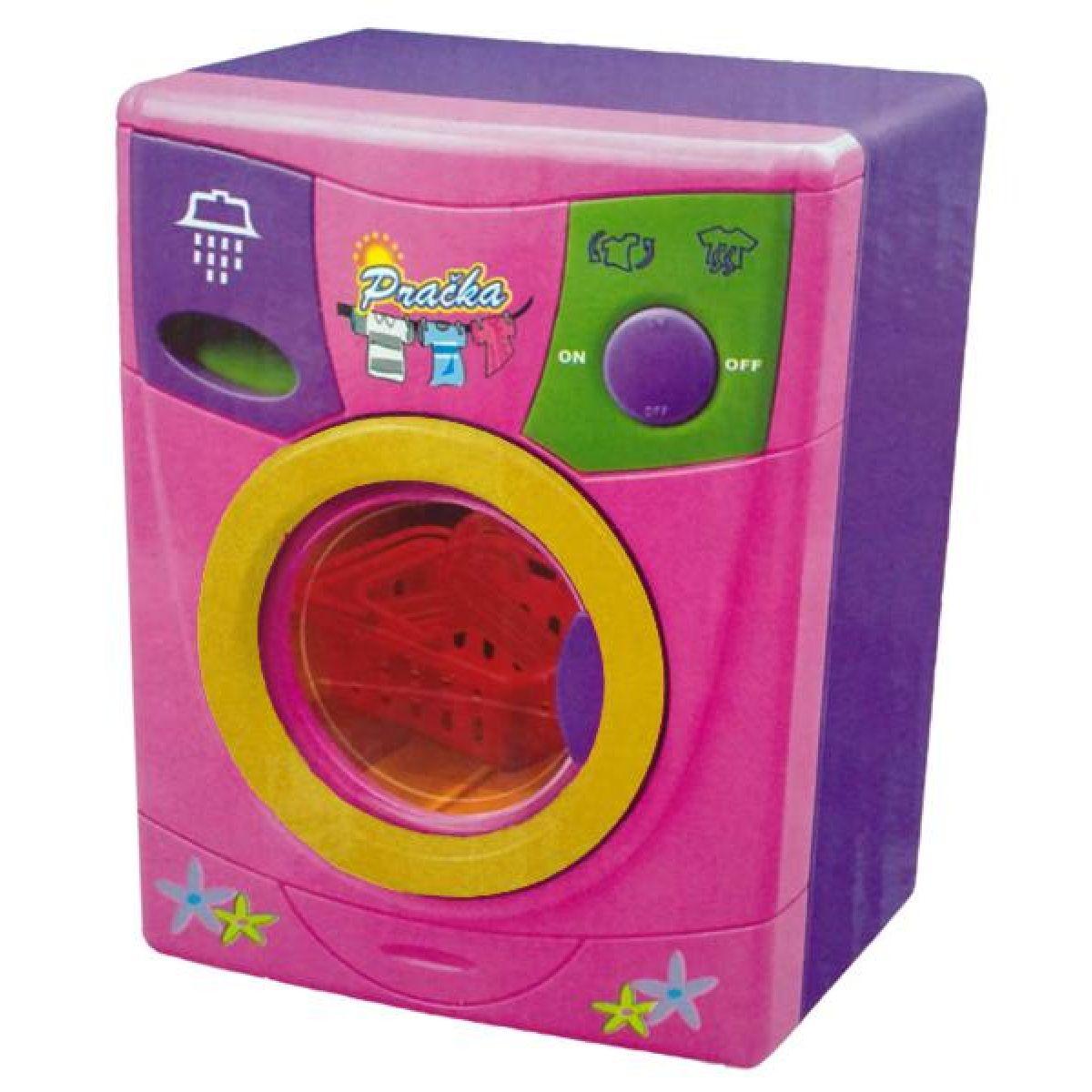 Dromader Pračka na baterie - Růžová