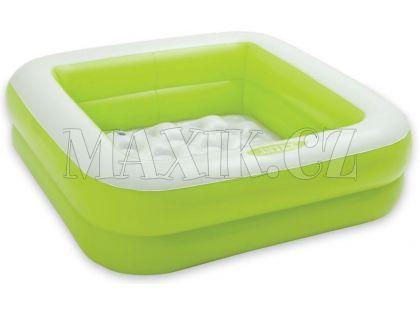 Dětský bazének čtverec Intex 57100 - Zelená