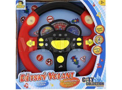 Dětský mluvící volant - Červená