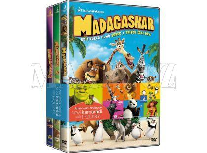 DVD 3DVD Madagaskar 1-3