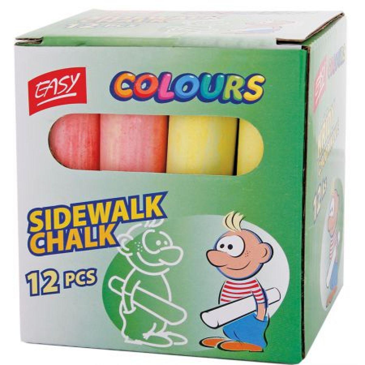 Easy Colours Chodníkové křídy 12ks