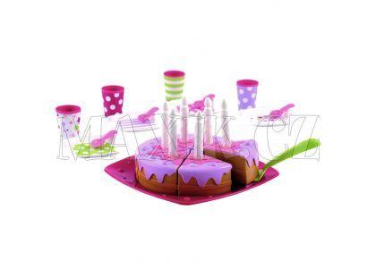 Ecoffier Narozeninový dort s příslušenstvím