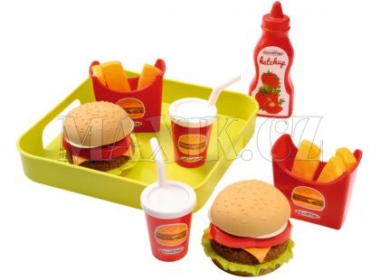 Ecoiffier Fast food s podnosem