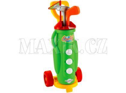 Ecoiffier Golfový vozík s holemi a míčky