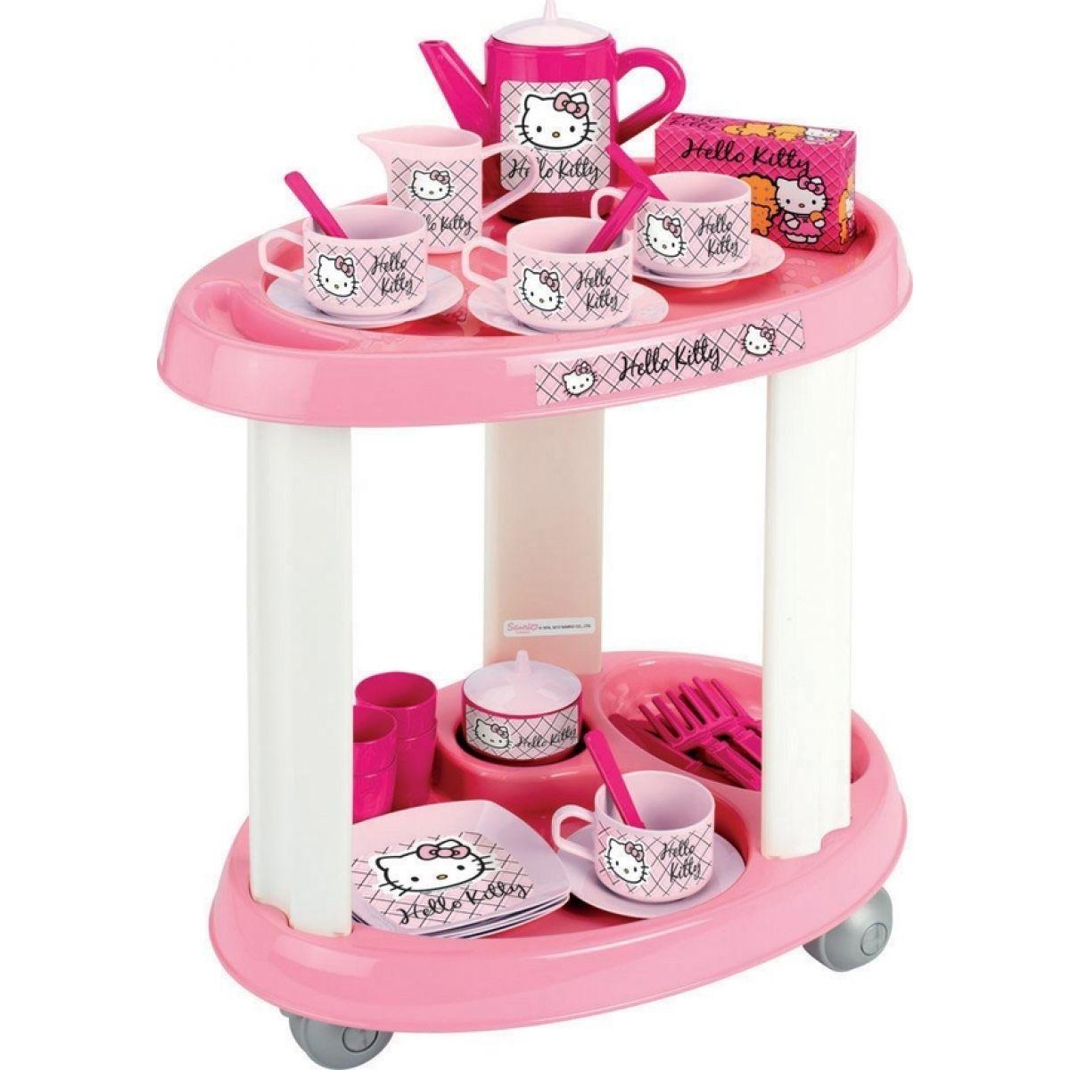 Ecoiffier Hello Kitty Servírovací stolek