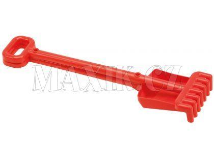 Ecoiffier Lopatička a hrabičky 52 cm - Červená