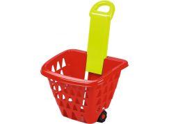 Ecoiffier Nákupní košík na kolečkách skládací