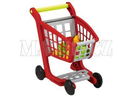 Ecoiffier Nákupní vozík s nákupem
