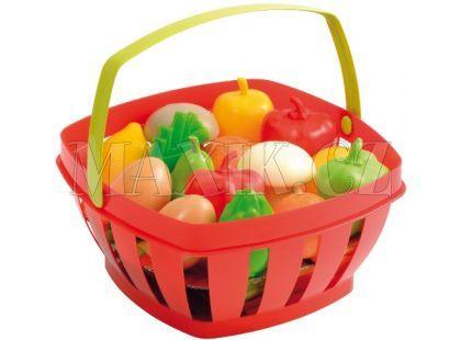 Ecoiffier Potraviny v nákupním košíku 22cm