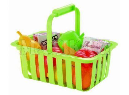 Ecoiffier Potraviny v nákupním košíku