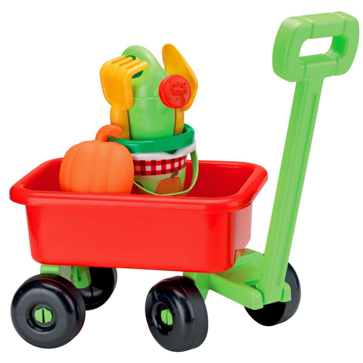 Ecoiffier Retro vozík s konvičkou a příslušenstvím