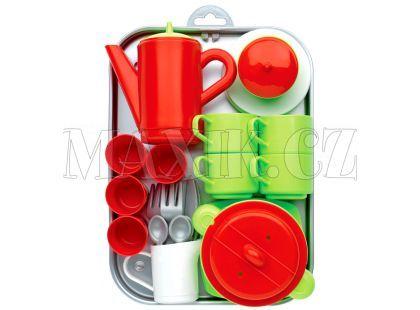 Ecoiffier Sada nádobí a kávový servis s tácem