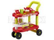 Ecoiffier Servírovací vozík s doplňky