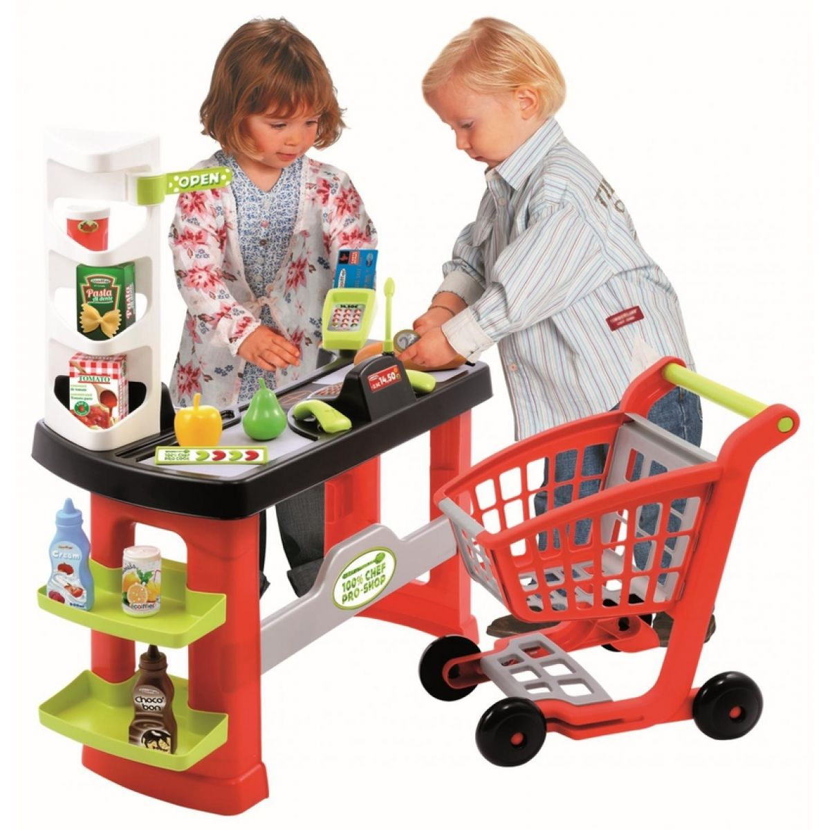 Ecoiffier Supermarket s vozíkem