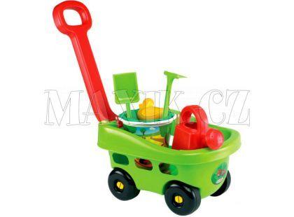 Ecoiffier Zahradní vozík s kyblíčkem