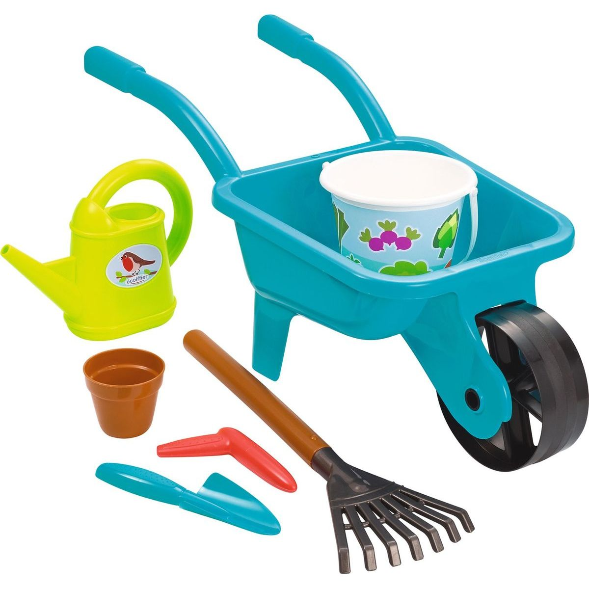 Ecoiffier Zahradní kolečko s konvičkou, kyblíčkem a přísl.