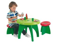 Ecoiffier Zahradní stůl se 2 židličkami a příslušenstvím