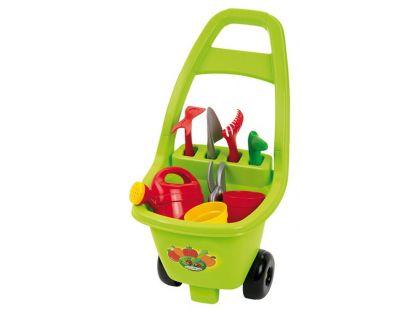 Ecoiffier Zahradní vozík s nářadím, květináči a konvičkou