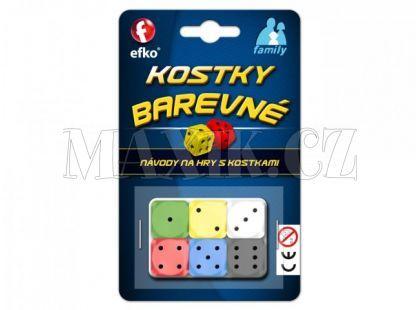 Efko Barevné hrací kostky