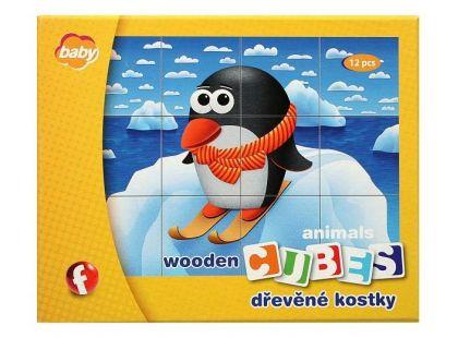 Efko Kostky dřevěné Baby - zvířátka