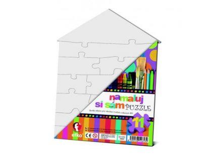 Efko Namaluj si sám puzzle domeček