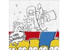 Efko Puzzle The Simpsons Vymaluj si čtverec 2